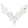 Motif Collar Hot-Fix V-shape 24x18cm Crystal